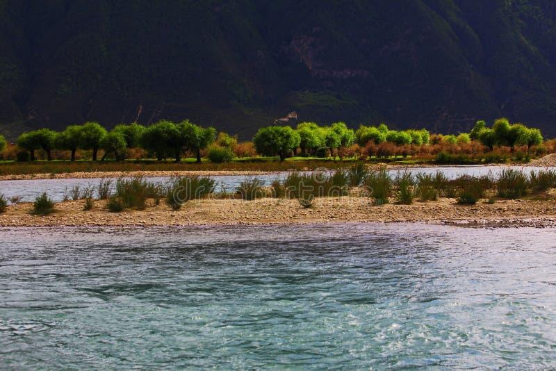 Paisagem, natureza, China, Tibet foto de stock royalty free