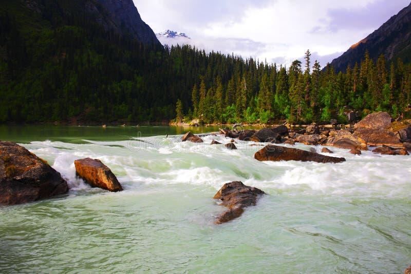 Paisagem, natureza, China, Tibet foto de stock