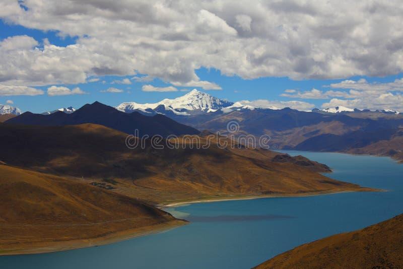 Paisagem, natureza, China, Tibet fotografia de stock