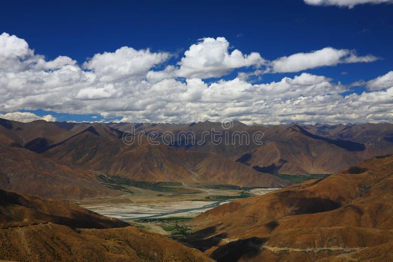 Paisagem, natureza, China, Tibet imagem de stock