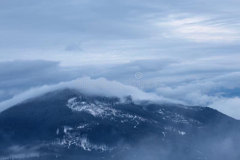 Download Paisagem Nebulosa Da Montanha Imagem de Stock - Imagem de nave, neve: 29838991