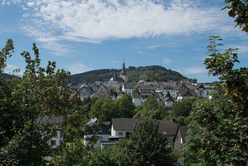 Paisagem no germand Rothaargebirge fotografia de stock royalty free