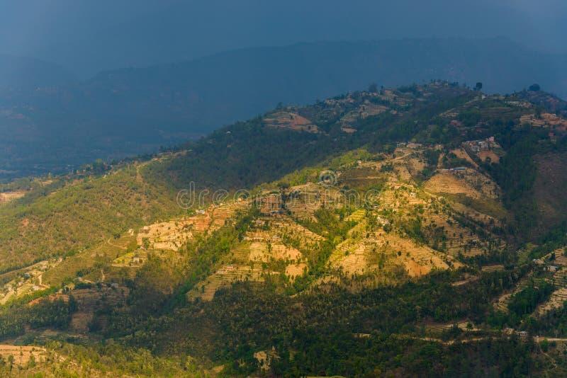 Paisagem no Kathmandu Valley, Nepal imagens de stock