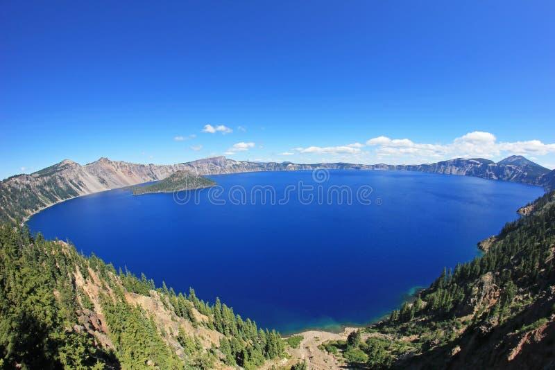 Paisagem no parque nacional do lago crater, EUA fotos de stock royalty free