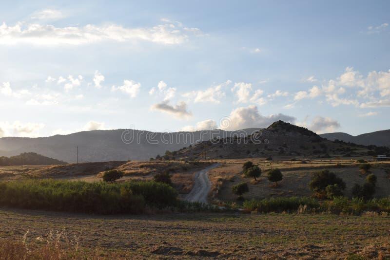 Paisagem norte de Chipre imagem de stock