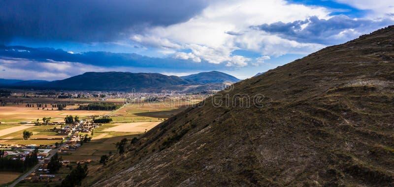 Paisagem nos Andes peruanos fotografia de stock royalty free