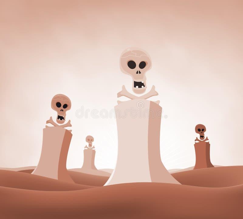 Paisagem nuclear da morte ilustração royalty free