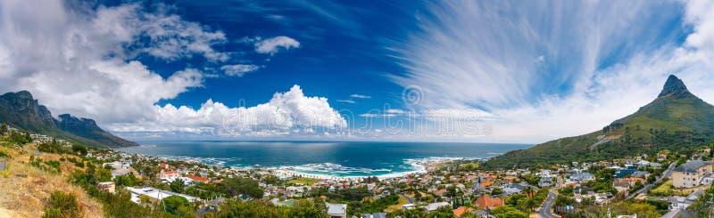 Paisagem panorâmico de Cape Town imagens de stock