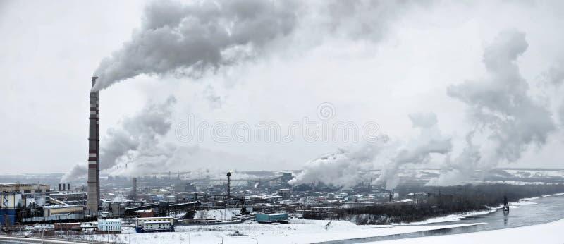 Paisagem panorâmico industrial urbana imagem de stock royalty free
