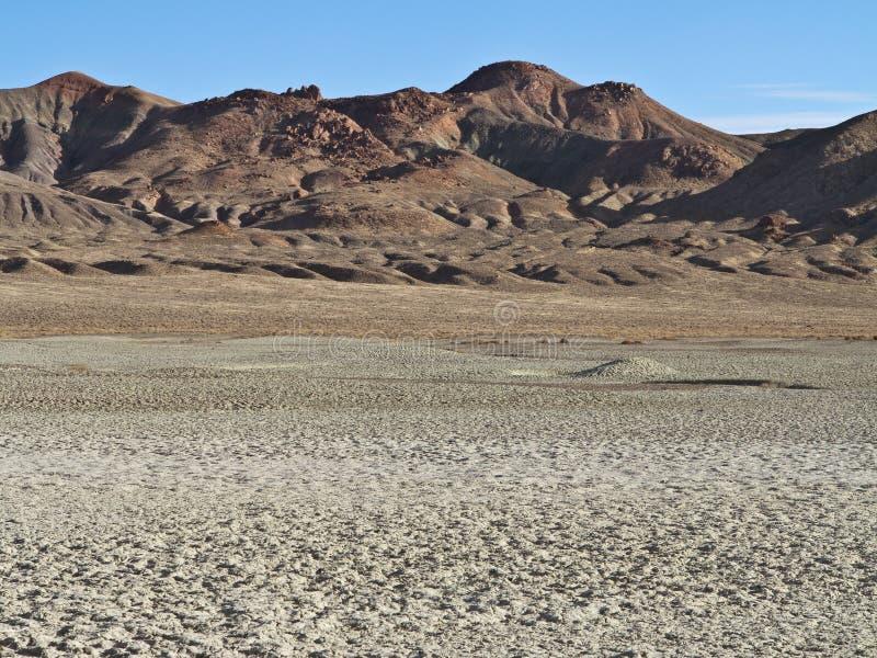 Paisagem Parched do deserto em Nevada do norte fotos de stock royalty free