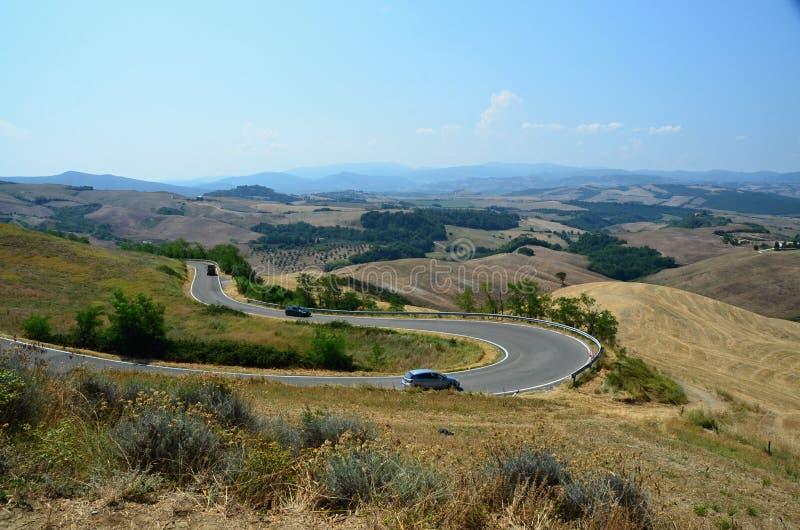 Paisagem perto da cidade histórica de Volterra imagens de stock royalty free