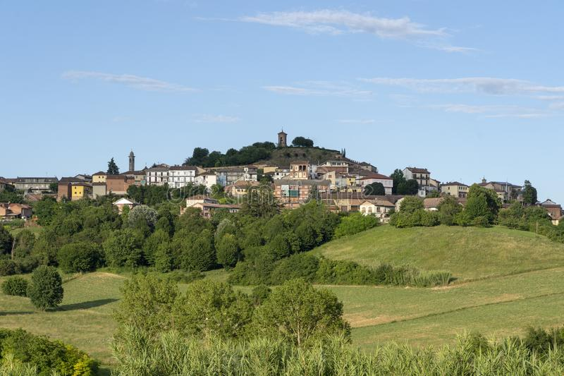 Paisagem perto de Calliano, Monferrato, Itália imagens de stock