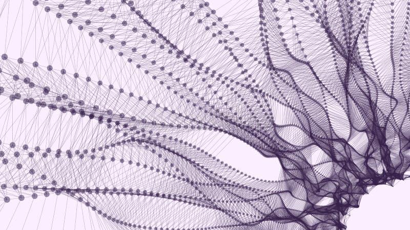 Paisagem poligonal de Wireframe ilustração stock