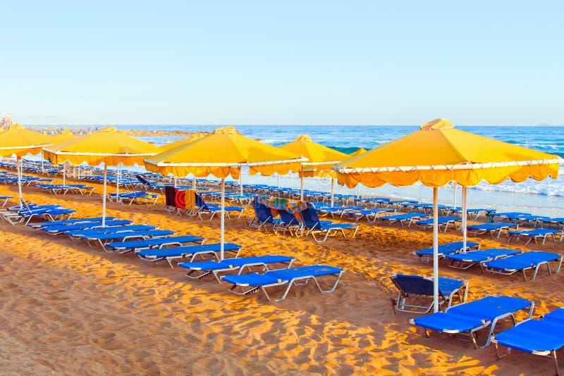 Paisagem, praia em um Crete imagens de stock royalty free