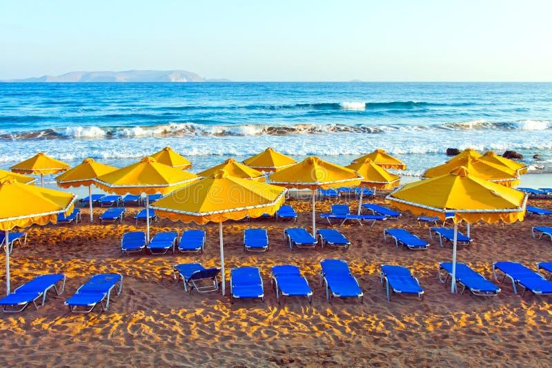 Paisagem, praia em um Crete imagens de stock
