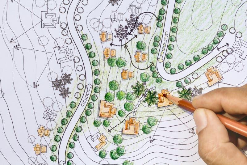 A paisagem projeta modelos para o recurso imagem de stock