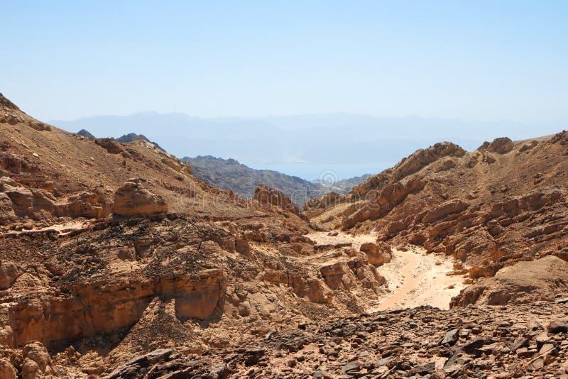 Paisagem rochosa do deserto foto de stock