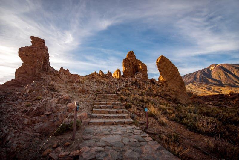 Paisagem rochosa do deserto fotografia de stock