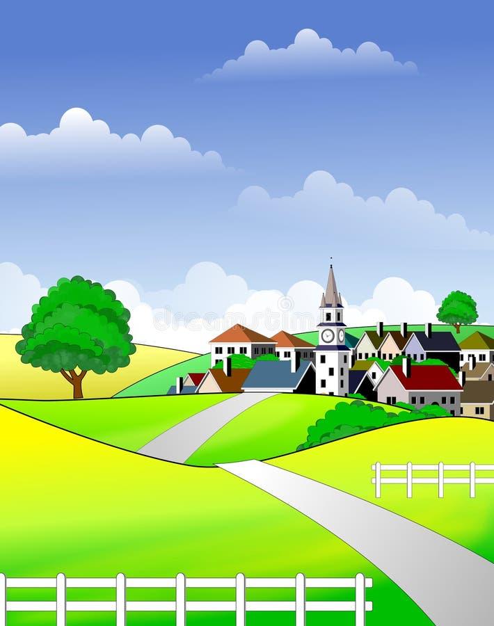 Paisagem rural cénico ilustração royalty free