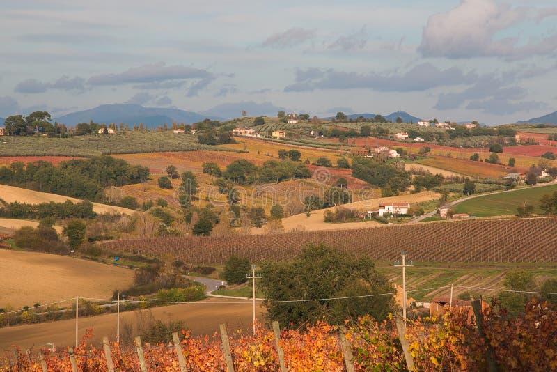 Paisagem rural de Úmbria na estação do outono imagens de stock royalty free