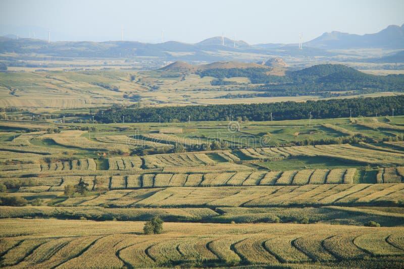 Paisagem rural de China fotografia de stock
