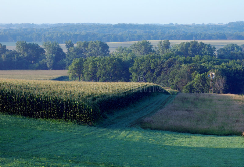 Paisagem rural de Iowa imagem de stock royalty free