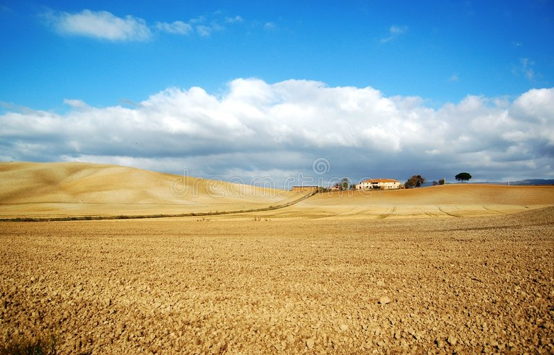 Paisagem rural de Toscânia, Italy fotos de stock