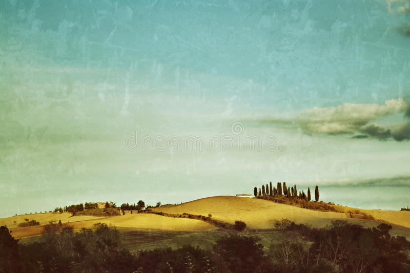 Paisagem rural de Tuscan fotos de stock royalty free