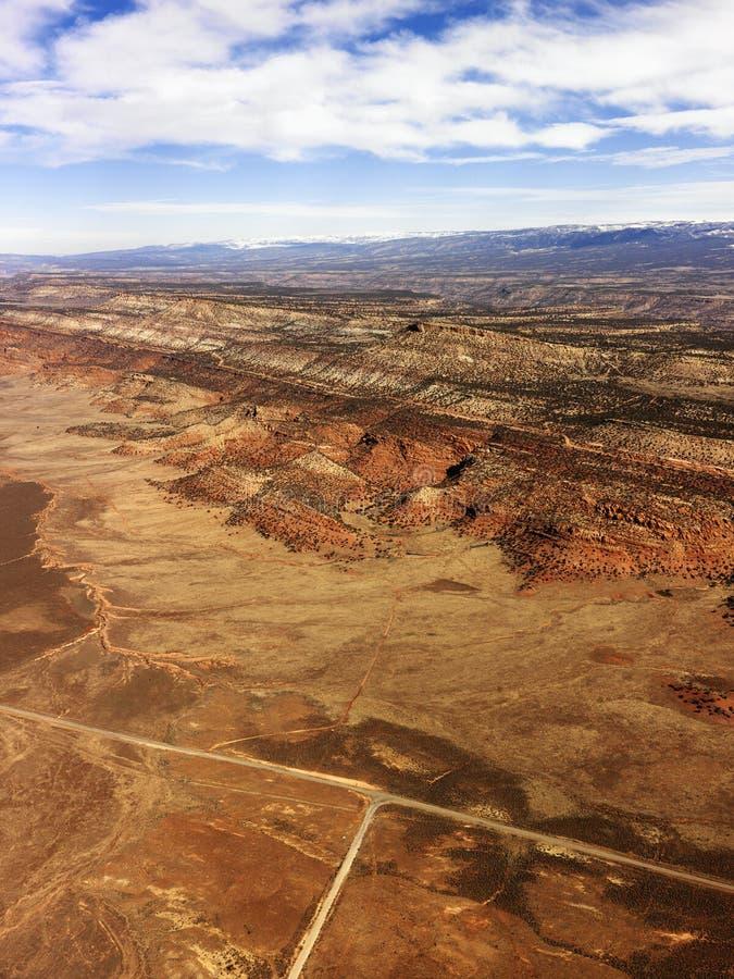 Paisagem rural do deserto de Utá. fotos de stock royalty free