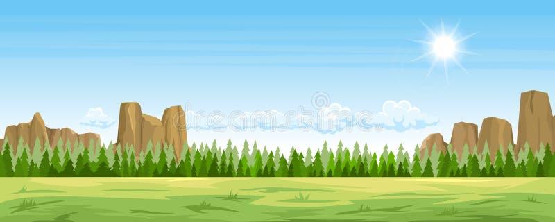 Paisagem rural do verão ilustração do vetor