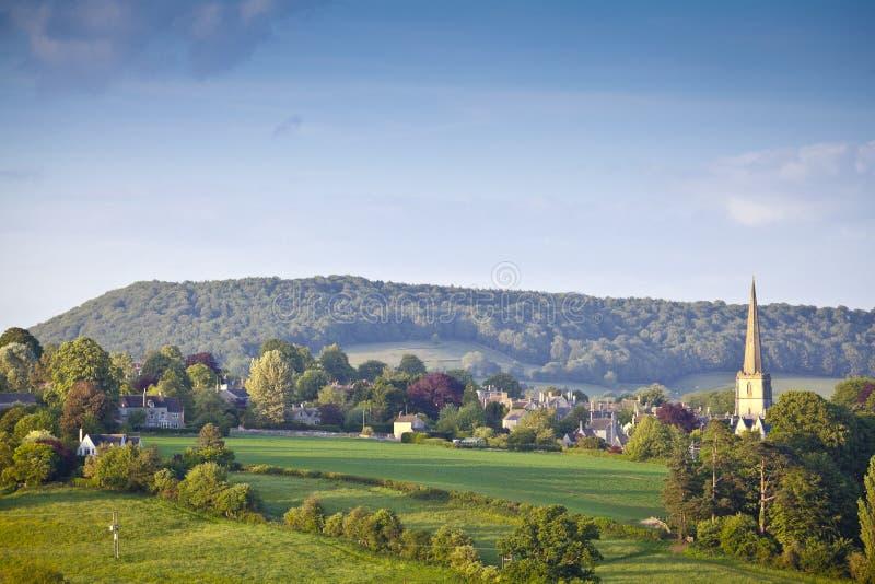Paisagem rural idílico, Cotswolds Reino Unido foto de stock royalty free