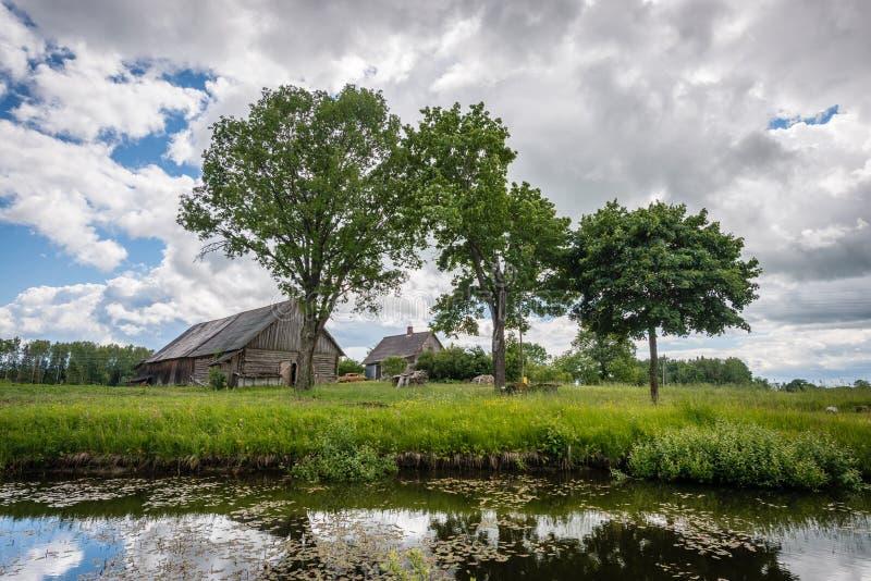 Paisagem rural letão fotografia de stock royalty free