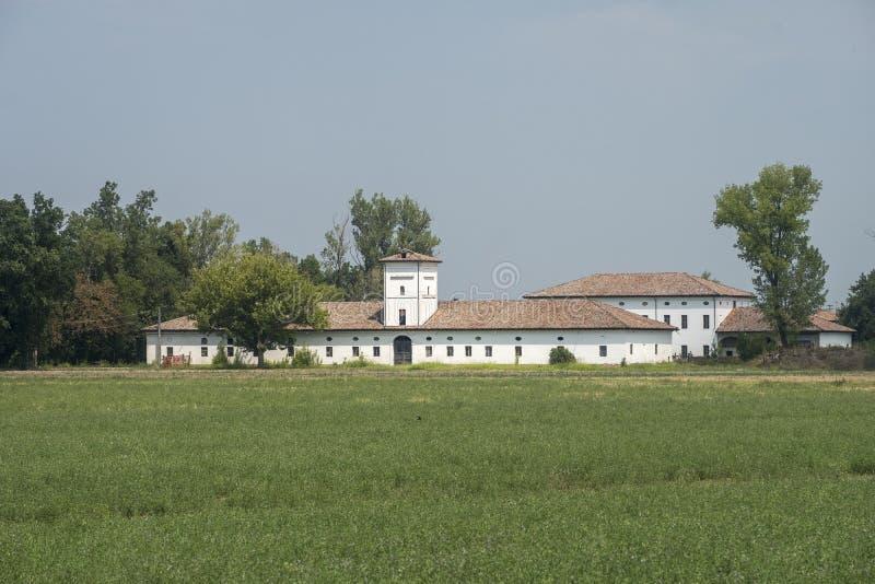Paisagem rural perto de Busseto, Itália fotografia de stock