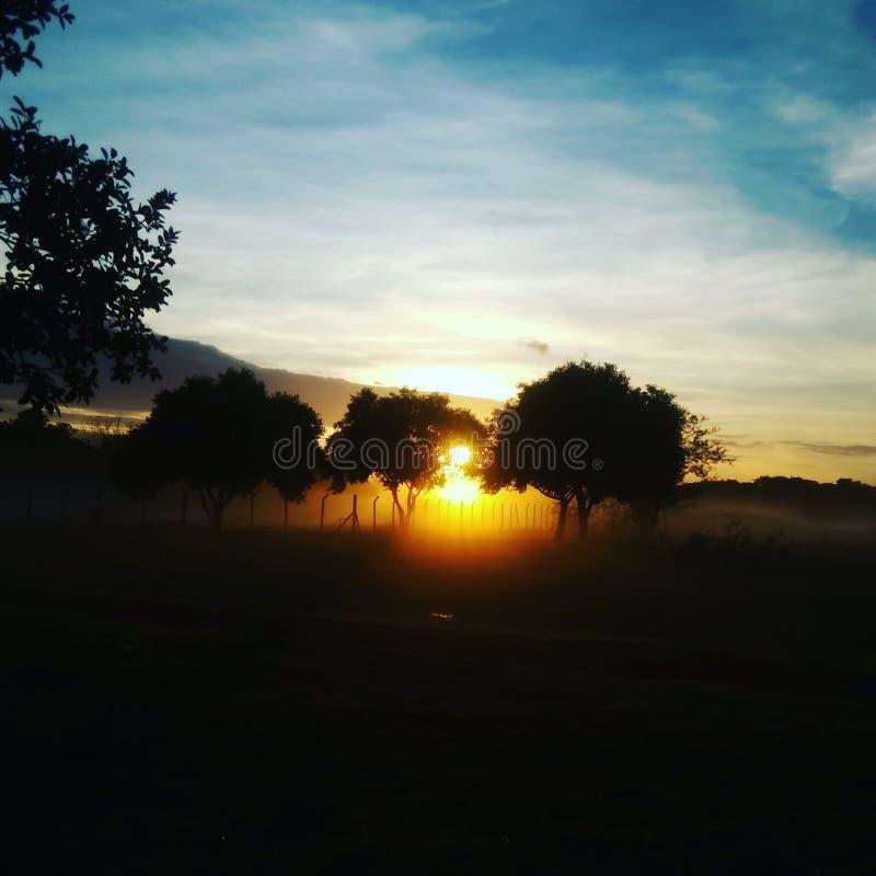 Paisagem soluppgång arkivbild