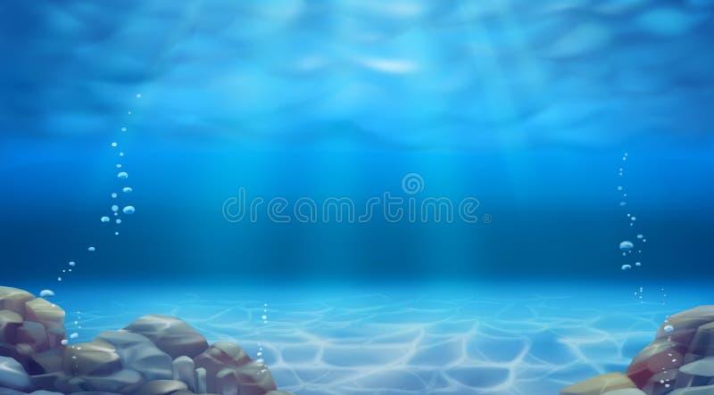 Paisagem subaqu?tica Fundo do vetor ilustração stock