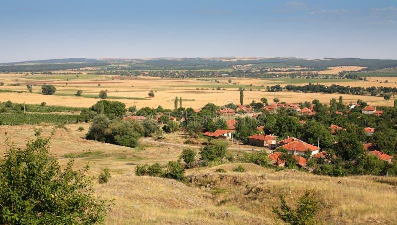 Paisagem típica de Bulgária fotografia de stock