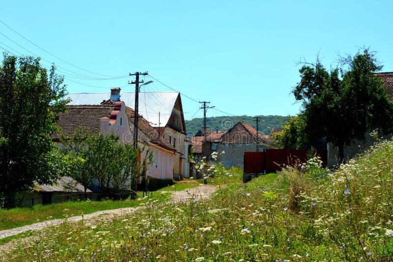 Paisagem típica na vila Jibert, condado de Brasov, a Transilvânia ruínas imagens de stock royalty free