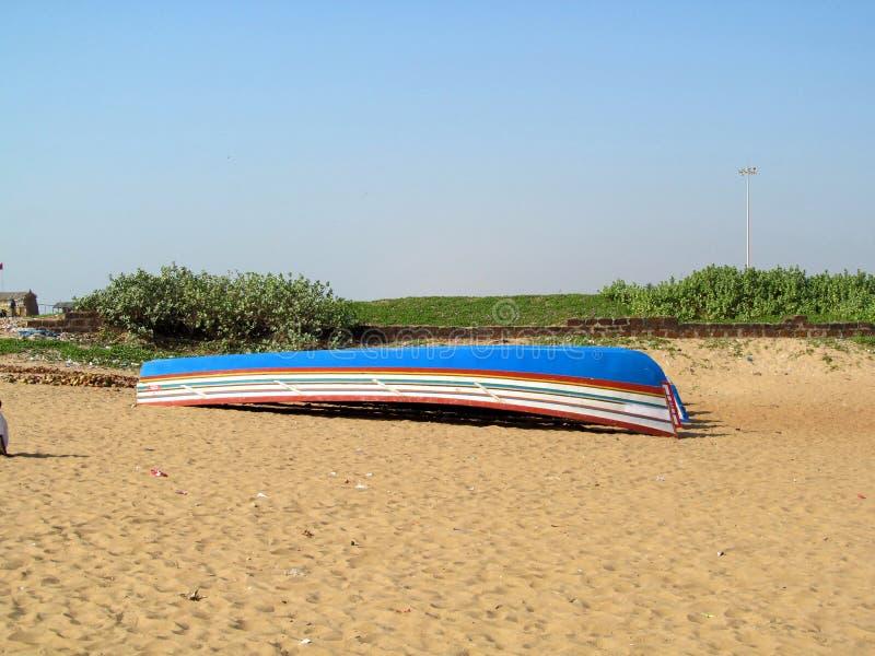 Paisagem, textura da areia da praia do mar fotografia de stock