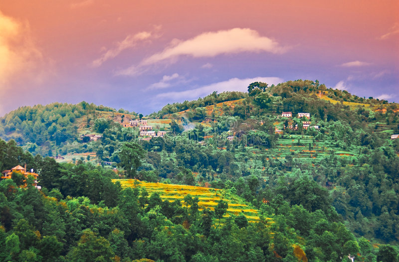 Paisagem tibetana fotos de stock royalty free