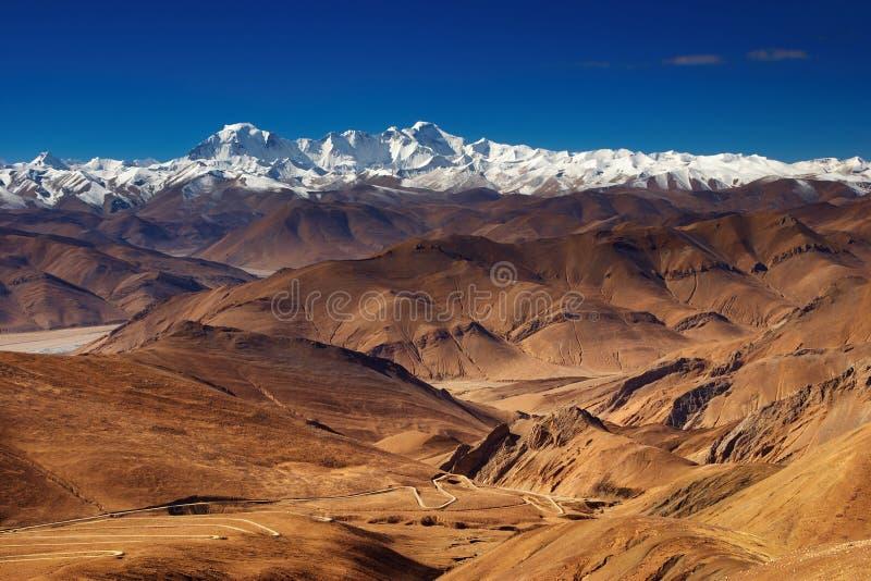 Paisagem tibetana imagens de stock royalty free