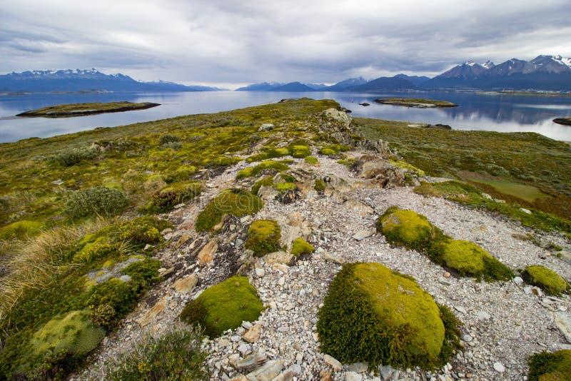 Paisagem Tierra del Fuego National Park, Argentina imagem de stock