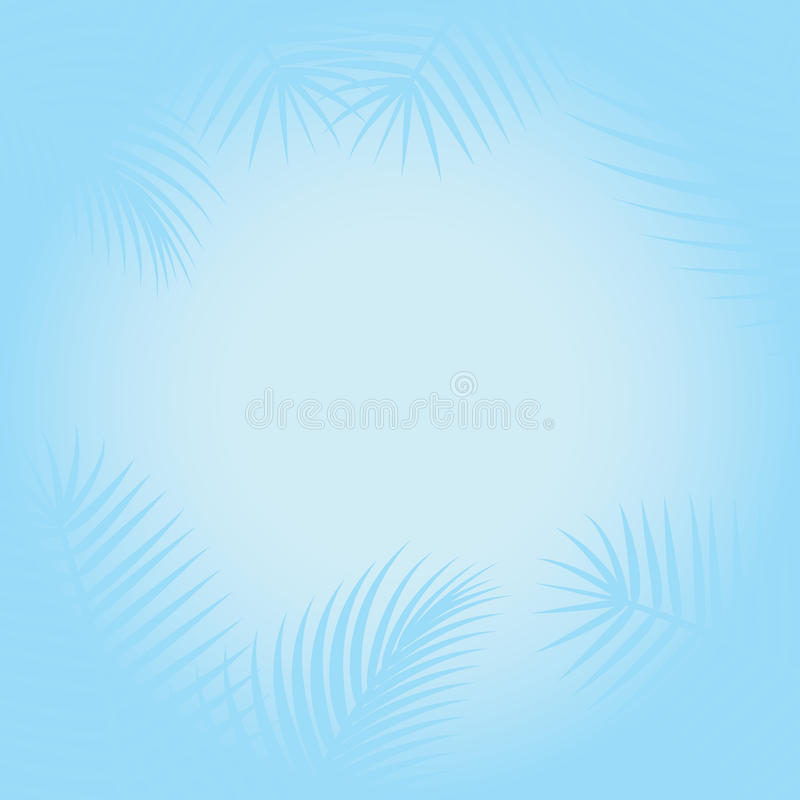 Paisagem tropical ilustração do vetor