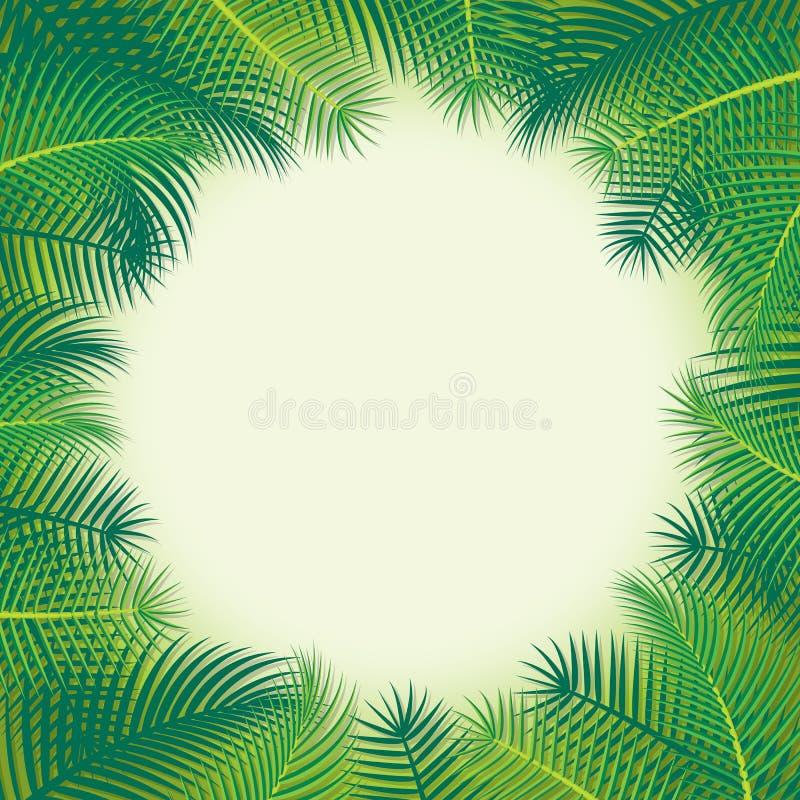 Paisagem tropical ilustração royalty free
