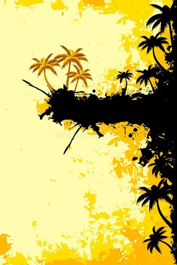 Paisagem tropical de Grunge ilustração do vetor