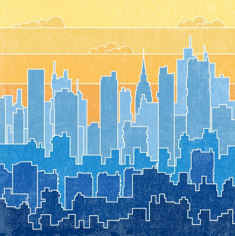 Paisagem urbana ilustração royalty free