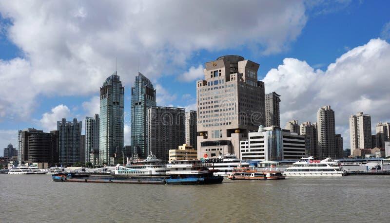 Paisagem urbana da cidade de shanghai imagem de stock