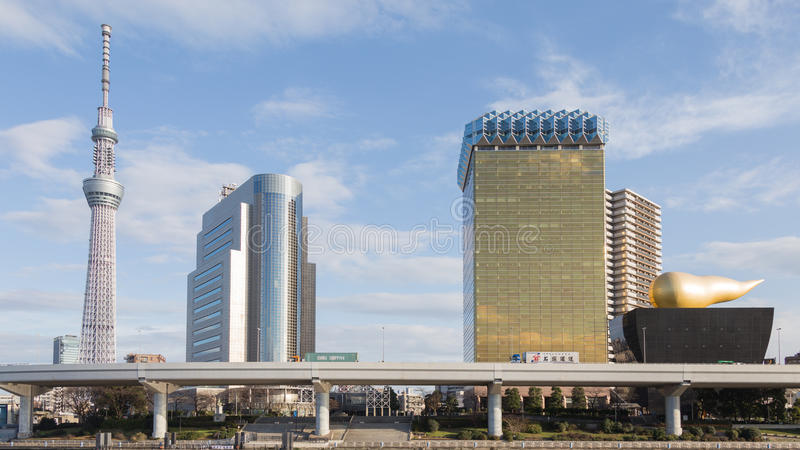 Paisagem urbana da cidade do Tóquio foto de stock