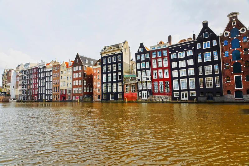 Paisagem urbana em Amsterdão foto de stock royalty free