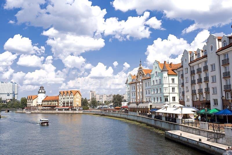 A paisagem urbana em Kaliningrad fotografia de stock royalty free
