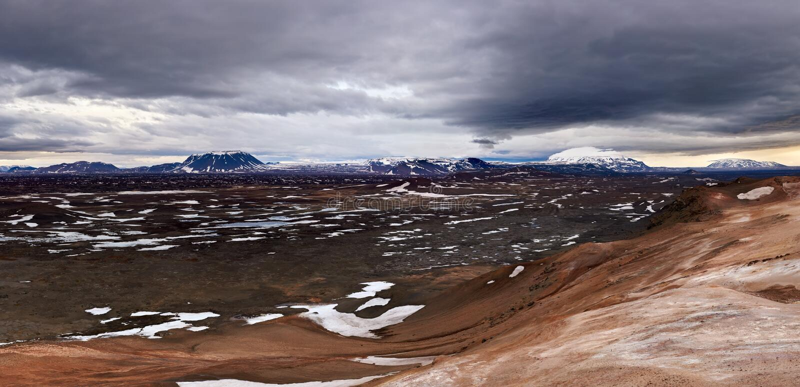 Paisagem vasta de Islândia fotos de stock